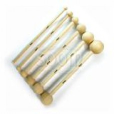 Augenschleifkugel-Set Holz 6-28 mm