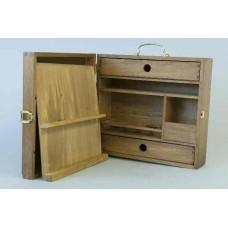 Werkzeugkoffer leer, Holz braun
